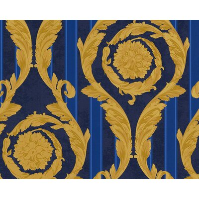 Versace Home 3D Geprägte Tapete Barocco and Stripes 1005 cm H x 70 cm B