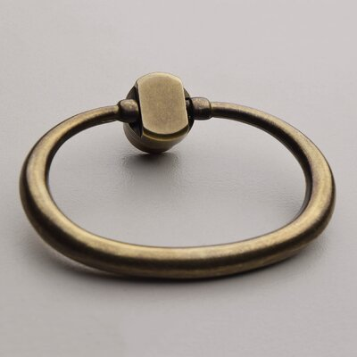 Large Oval Ring Pull Finish: Light Antique