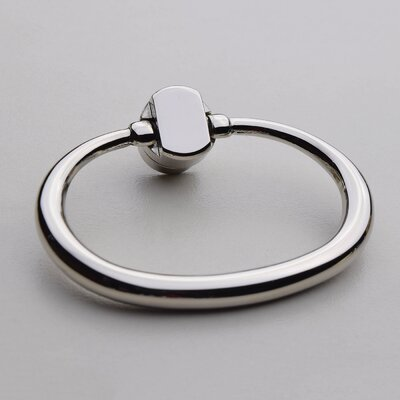 Large Oval Ring Pull Finish: Polished Nickel