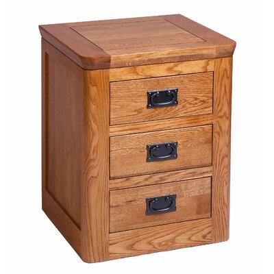 Hallowood Furniture London 3 Drawer Bedside Table