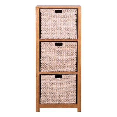 Hallowood Furniture New Waverly 3 Basket Storage Unit