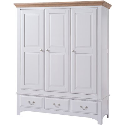 Hallowood Furniture Devon 3 Door Wardrobe