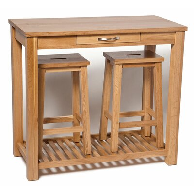 Hallowood Furniture Camberley Dining Table and 2 Chairs