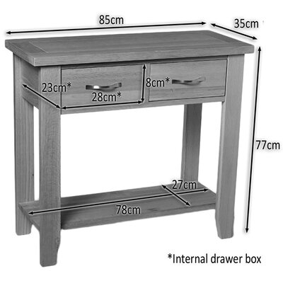 Hallowood Furniture Camberley Console Table