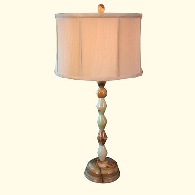 """Rembrandt Home Chartreuse 30.75"""" H Table Lamp with Oval Shade"""