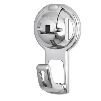 No Drill Flat Hook in Suction Cup Hook Color: Chrome