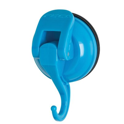Powerful Push and Lock Color Pop Suction Hook (Set of 2) Color: Blue