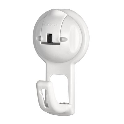 No Drill Flat Hook in Suction Cup Hook Color: White
