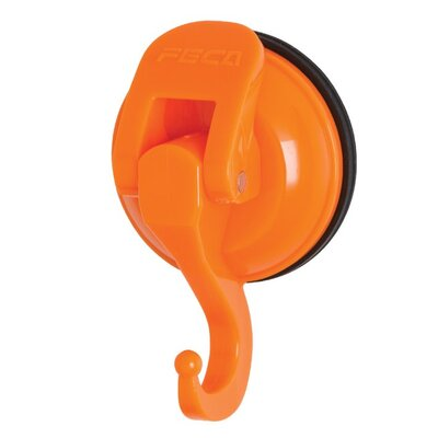 Powerful Push and Lock Color Pop Suction Hook (Set of 2) Color: Orange