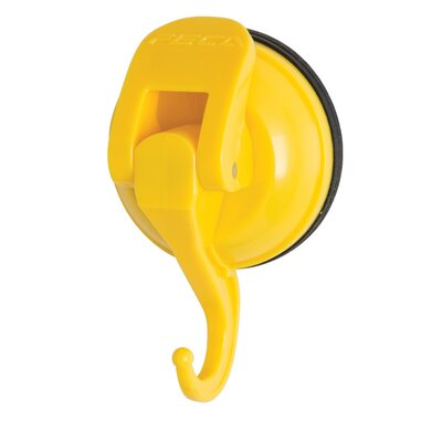 Powerful Push and Lock Color Pop Suction Hook (Set of 2) Color: Yellow
