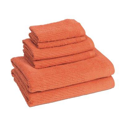 New Cambridge Quick Dry 6 Piece Towel Set Color: Sunset