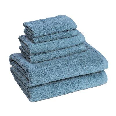 New Cambridge Quick Dry 6 Piece Towel Set Color: Citadel