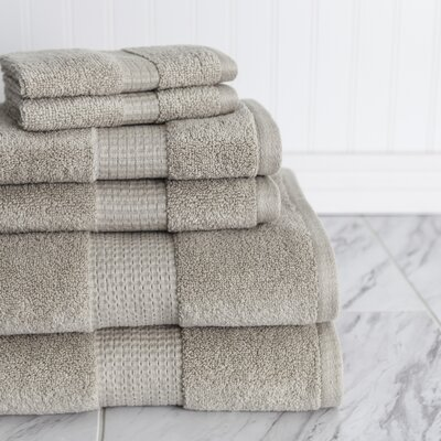 Crystal Bay 6 Piece Towel Set Color: Oxford Tan