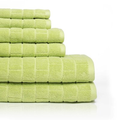 Cobblestone 6 Piece Towel Set Color: Citron