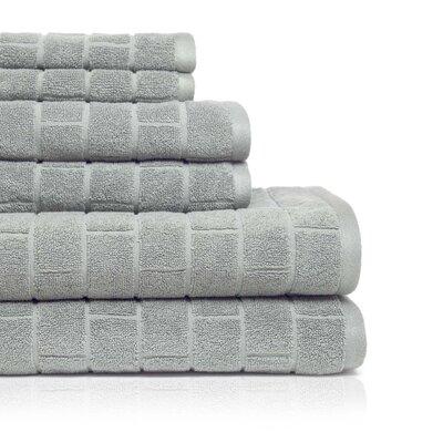 Cobblestone 6 Piece Towel Set Color: Silver Sage