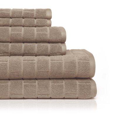 Cobblestone 6 Piece Towel Set Color: Sandy Tan