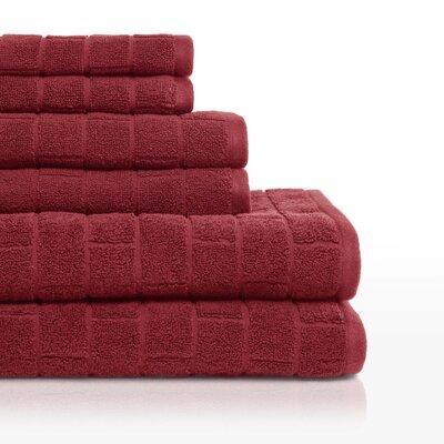 Cobblestone 6 Piece Towel Set Color: Barn Red