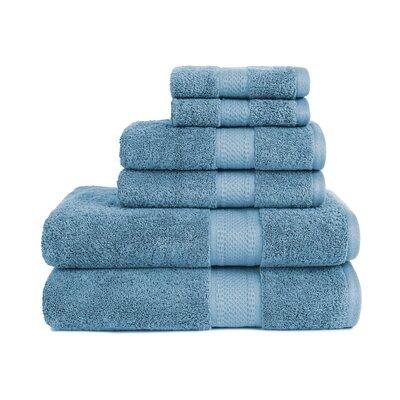 Organic 6 Piece Towel Set Color: Citadel Blue