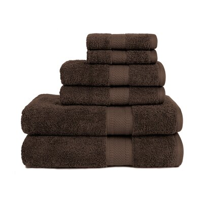 Organic 6 Piece Towel Set Color: Coffee