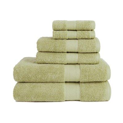 Organic 6 Piece Towel Set Color: Sage
