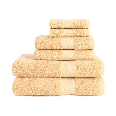 Organic 6 Piece Towel Set Color: Sahara