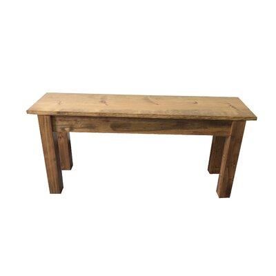 "Negron Wood Bench Size: 17"" H x 30"" W x 12"" D, Color: Polyurethane"