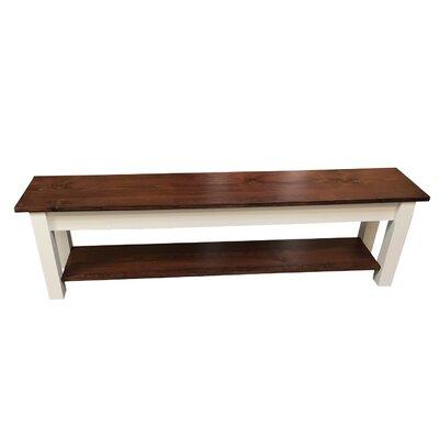 "Wood Bench Size: 17"" H x 72"" W x 12"" D"