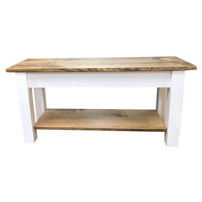 """Ambler Wood Bench Size: 17"""" H x 24"""" W x 12"""" D"""