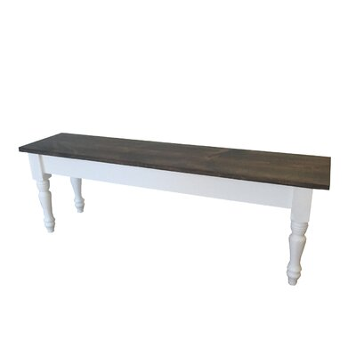 "Evelyn Wood Bench Size: 17"" H x 30"" W x 12"" D"