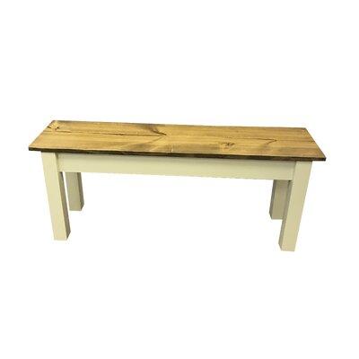 """Galindo Wood Bench Size: 48"""" W"""