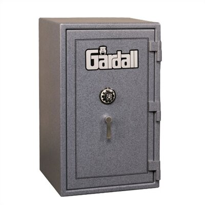 Large Burglar and Fire Resistant Safe Finish: Maroon With Gold Trim, Lock: Group II Key-Op Lock