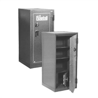"""Large """"B"""" Rated Two-Hour Fire Resistant Safe Inner Lock Type: Group II Key-Op Lock, Outer Lock Type: Group II Key-Op Lock, Size: Medium Large"""