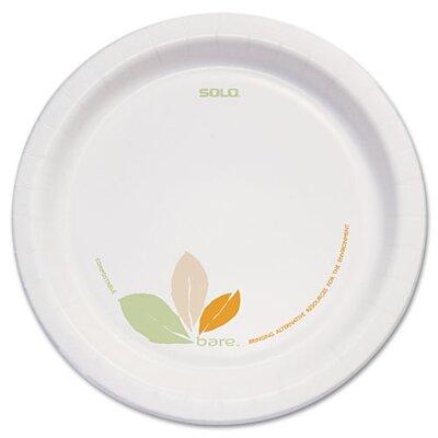 """Solo Cups Company Bare Paper Dinnerware, 8.5"""" Plate, 250/Carton"""