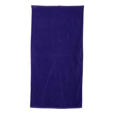 Monogrammed 100% Cotton Beach Towel Color: Purple