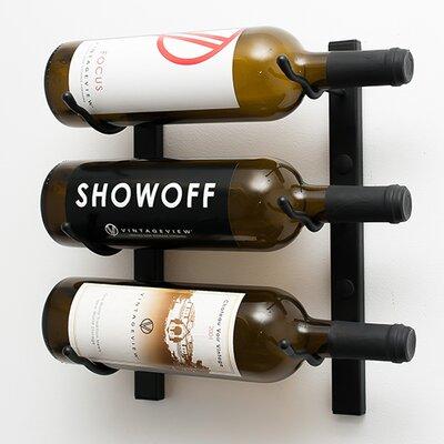 VintageView Wall Series 3 Bottle Wall Mounted Wine Rack