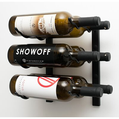 VintageView Wall Series 6 Bottle Wall Mounted Wine Rack