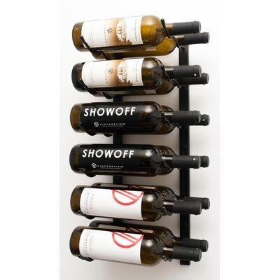 VintageView Wall Series 12 Bottle Wall Mounted Wine Rack