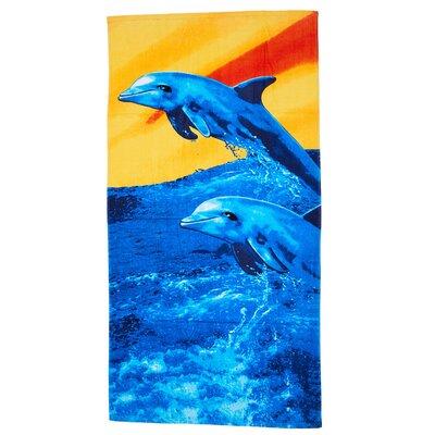 Ghag Sunset Dolphin 100% Cotton Beach Towel