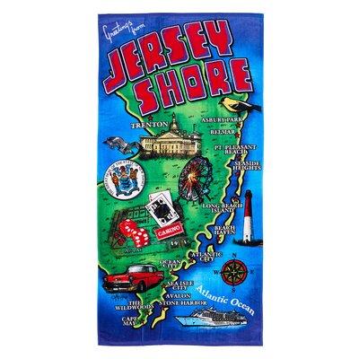 Jersey Shore 100% Cotton Beach Towel