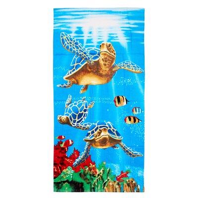 Claudius Sea Turtles 100% Cotton Beach Towel