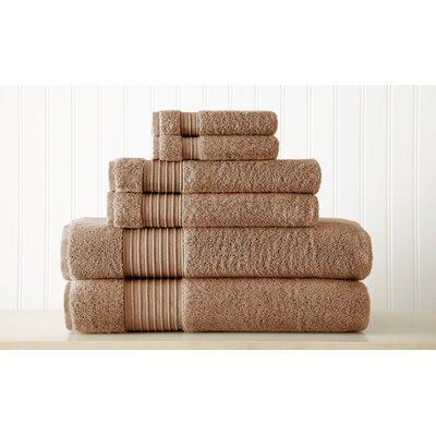 Adalrik 6 Piece Turkish Cotton Towel Set Color: Mocha