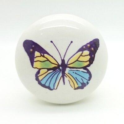 G Decor Colourful Butterfly Door Knob