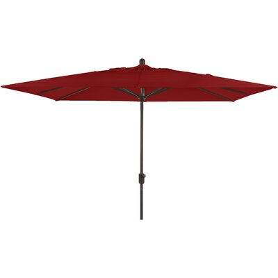 Centers 10' X 6.5' Rectangular Market Umbrella Fabric: Jockey Red