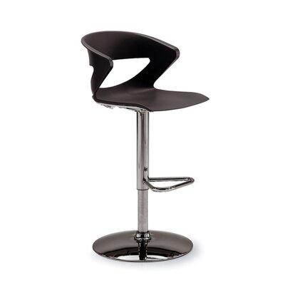 Height Adjustable Kreature Pedestal Base Stool Finish: Black