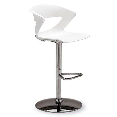 Height Adjustable Kreature Pedestal Base Stool Finish: White
