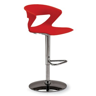 Height Adjustable Kreature Pedestal Base Stool Finish: Red