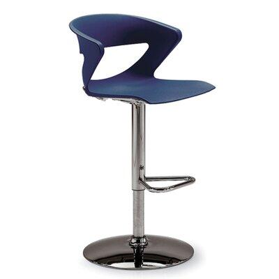 Height Adjustable Kreature Pedestal Base Stool Finish: Blue
