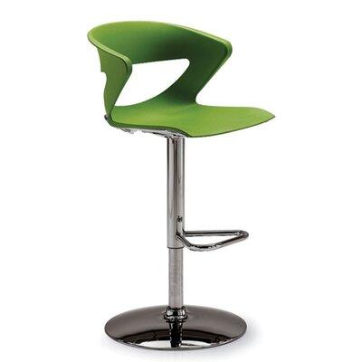 Height Adjustable Kreature Pedestal Base Stool Finish: Green