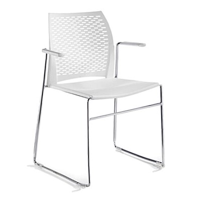 Network Sled Base Guest Chair Seat Color: White