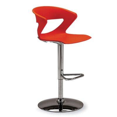 Height Adjustable Kreature Pedestal Base Stool Finish: Orange